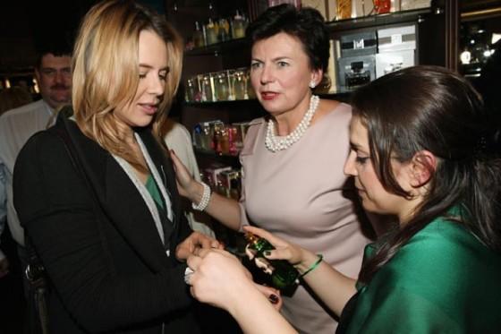 Maja Sablewska i Stanisława Missala podczas 20. urodzin Perfumerii Quality i promocji zapachu Missala Qessence