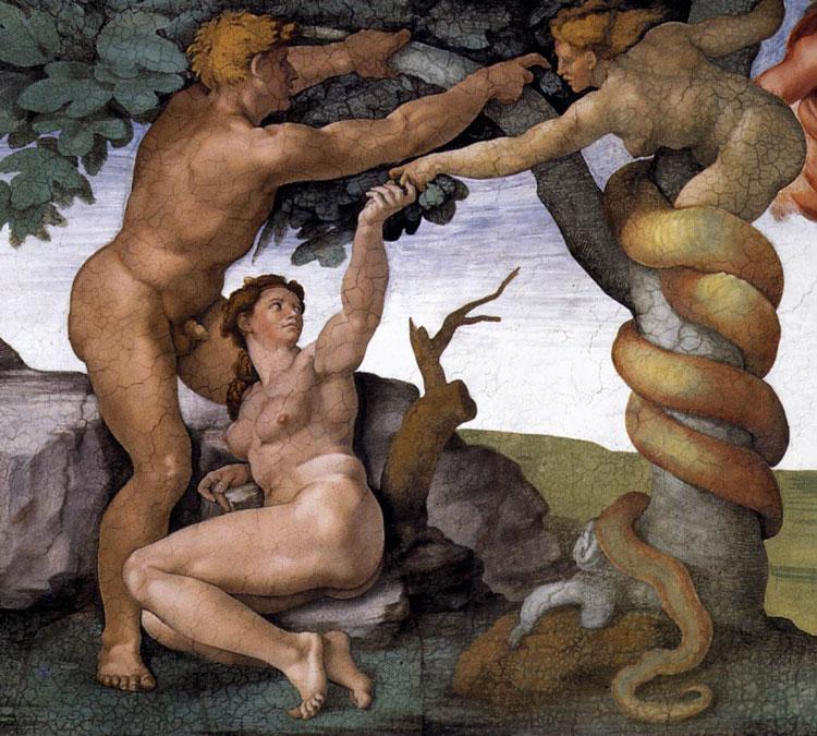 Michelangelo-Buonarroti-The-Fall-1509-10-Fresco-Cappella-Sistina-Vatican-www
