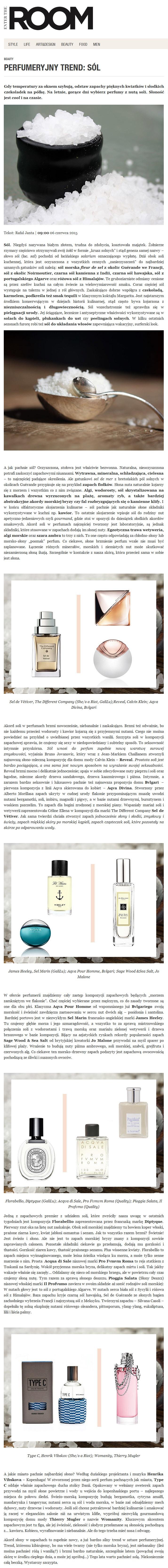 2015.06.06_EnterTheRoom PRO FVMVM ROMA Acqua di Sale, IL PROFVMO Pioggia Salata