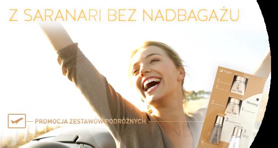www_Z Saranari bez nadbagażu_Promocja zestawów podróżnych