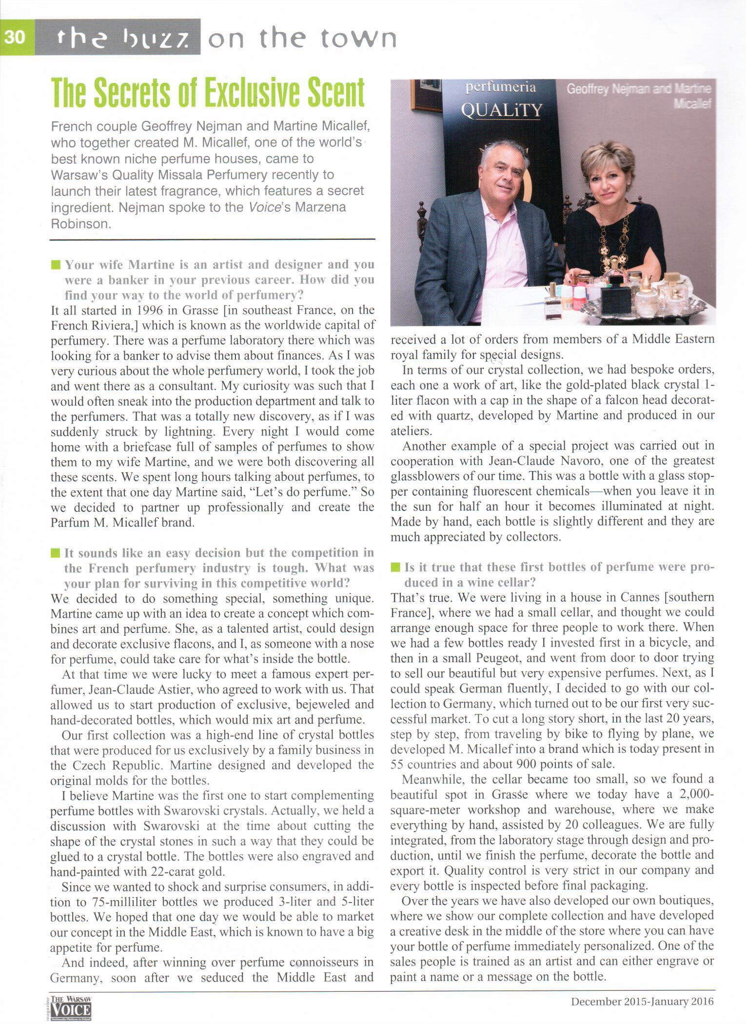 2015.12 The Warsaw Voice_Wywiad z Martine Micallef i Geoffreyem Nejmanem (1)