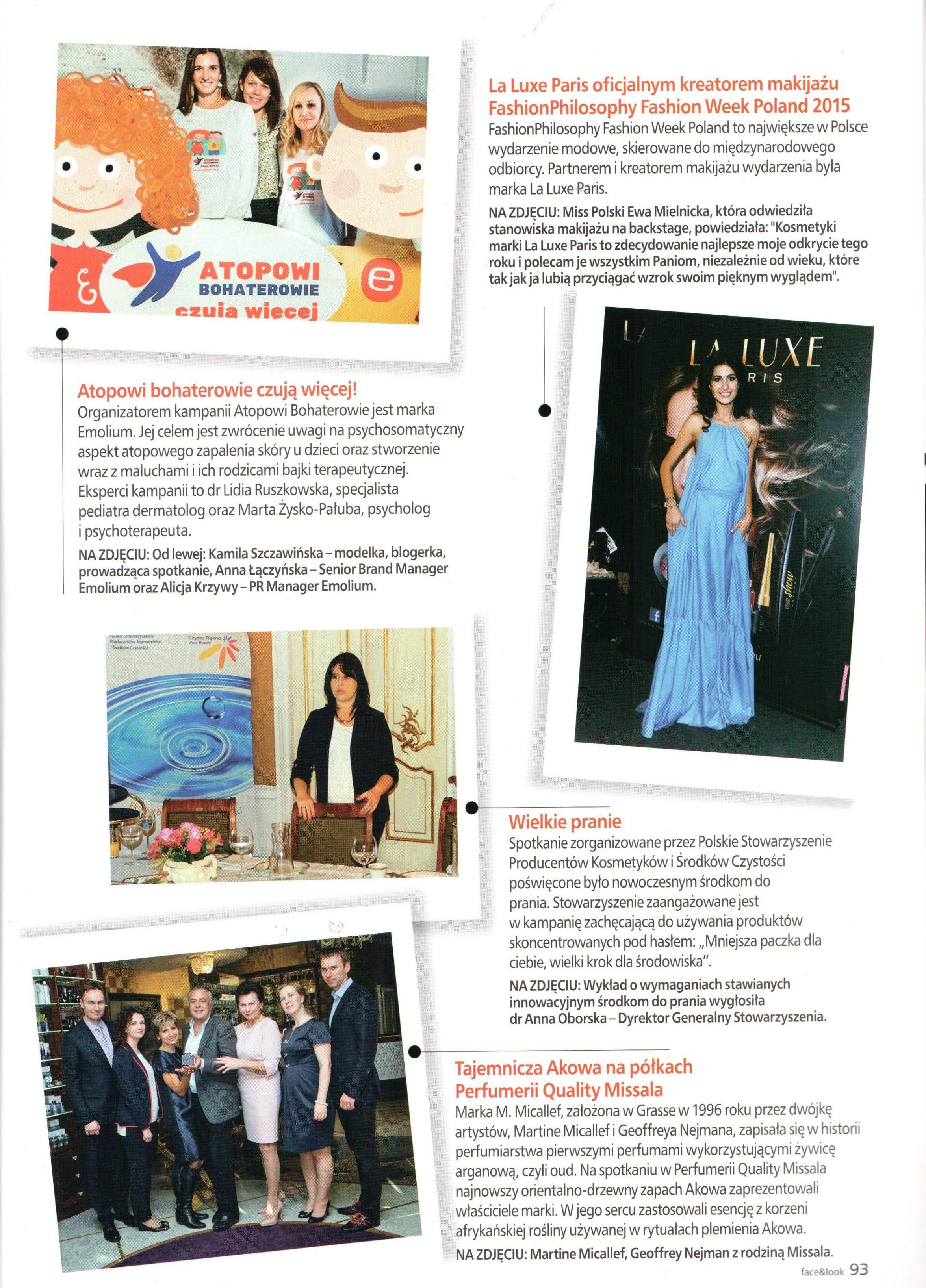 2016.01-02 Face&Look_Wizyta Martine Micallef i Geoffreya Nejmana w Perfumerii Quality
