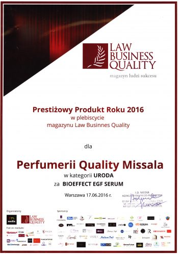Prestiżowy Produkt Roku 2016 Law Business Quality_z podpisem