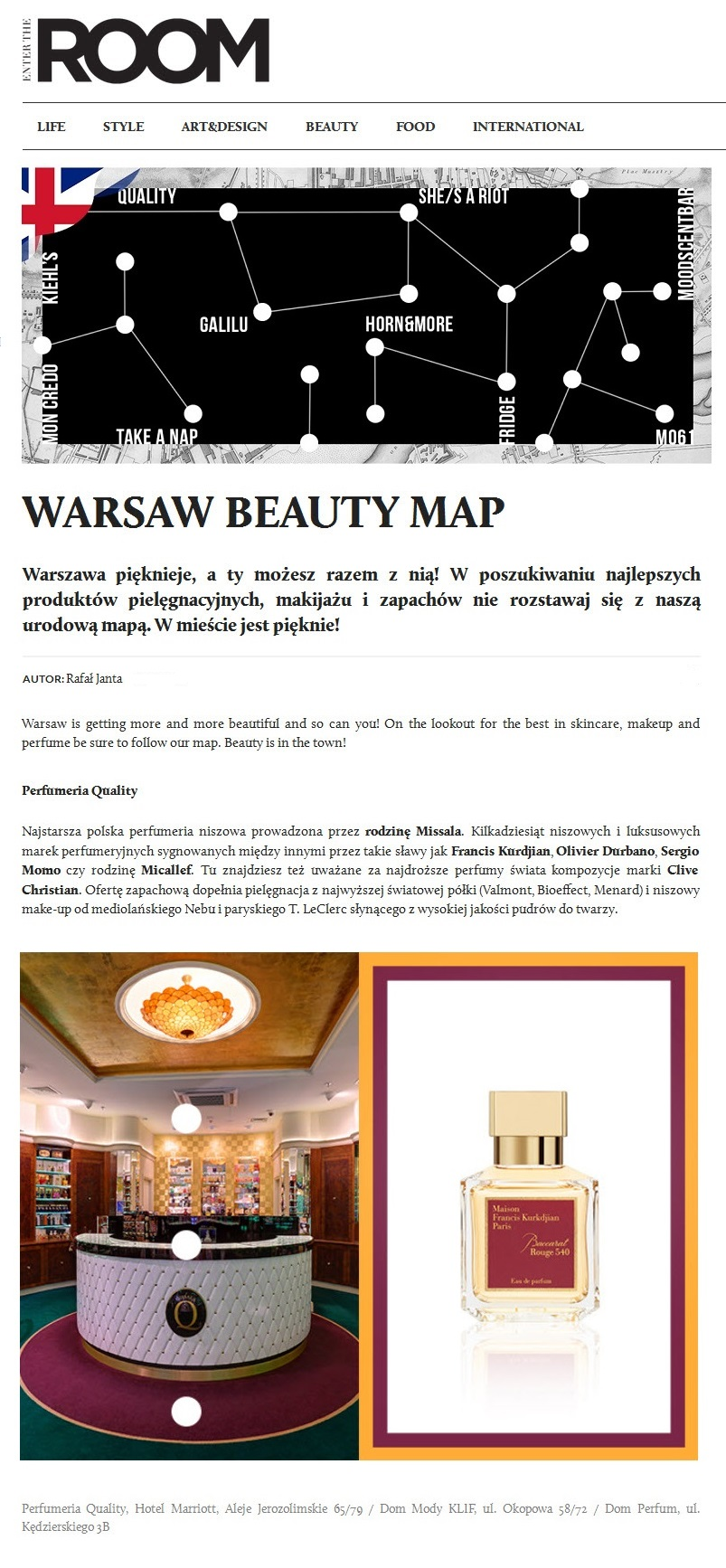 Warsaw Beauty Map