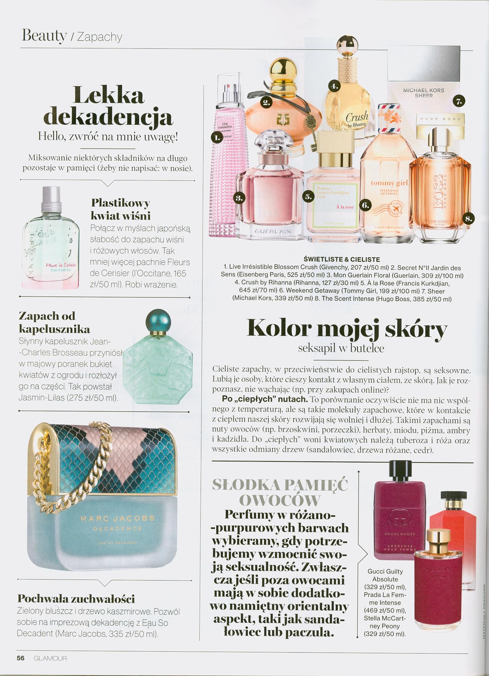 Styczniowo lutowo marcowe publikacje w prasie for A la rose maison francis kurkdjian